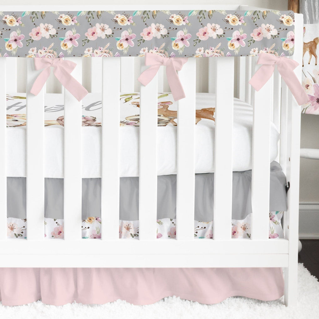 Floral Woodlands Ruffled Crib Bedding Crib Bedding Modified Tot