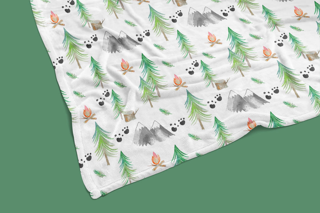 Forest Adventure Minky Blanket Crib Bedding Modified Tot