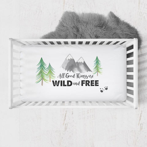 Forest Adventure 'Wild & Free' crib Sheet Crib Bedding Modified Tot