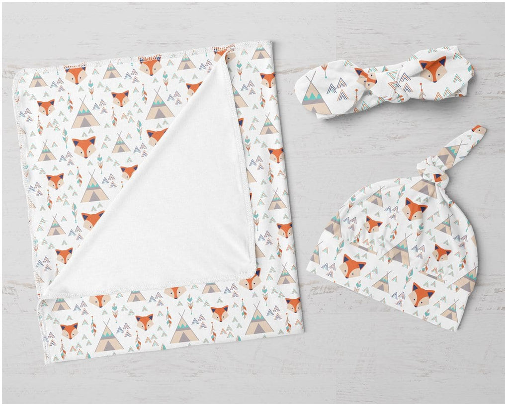 Fox Say Swaddle Blanket Set Swaddle Blanket Modified Tot