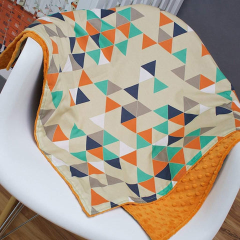 Fox Say Triangle Minky Blanket Blankets Modified Tot