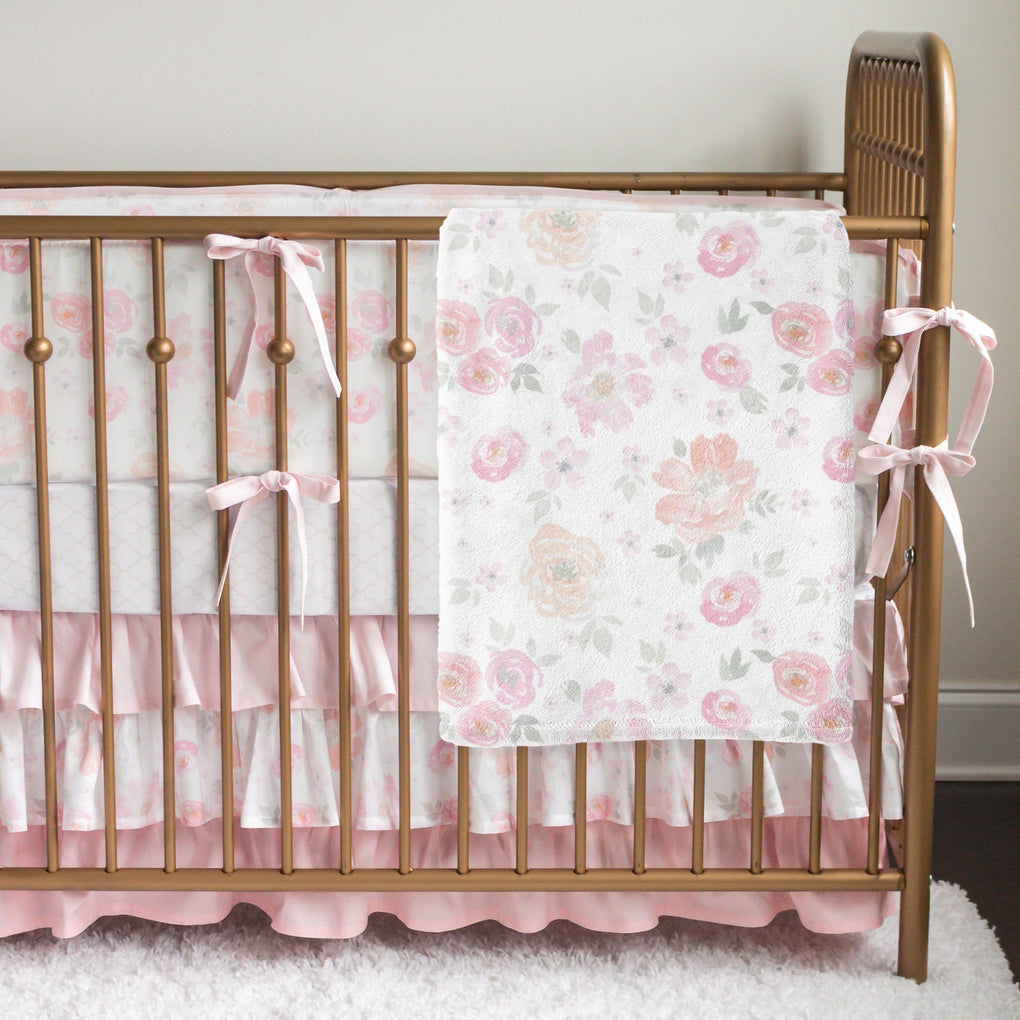 French Floral Bumper Crib Bedding Crib Bedding Modified Tot