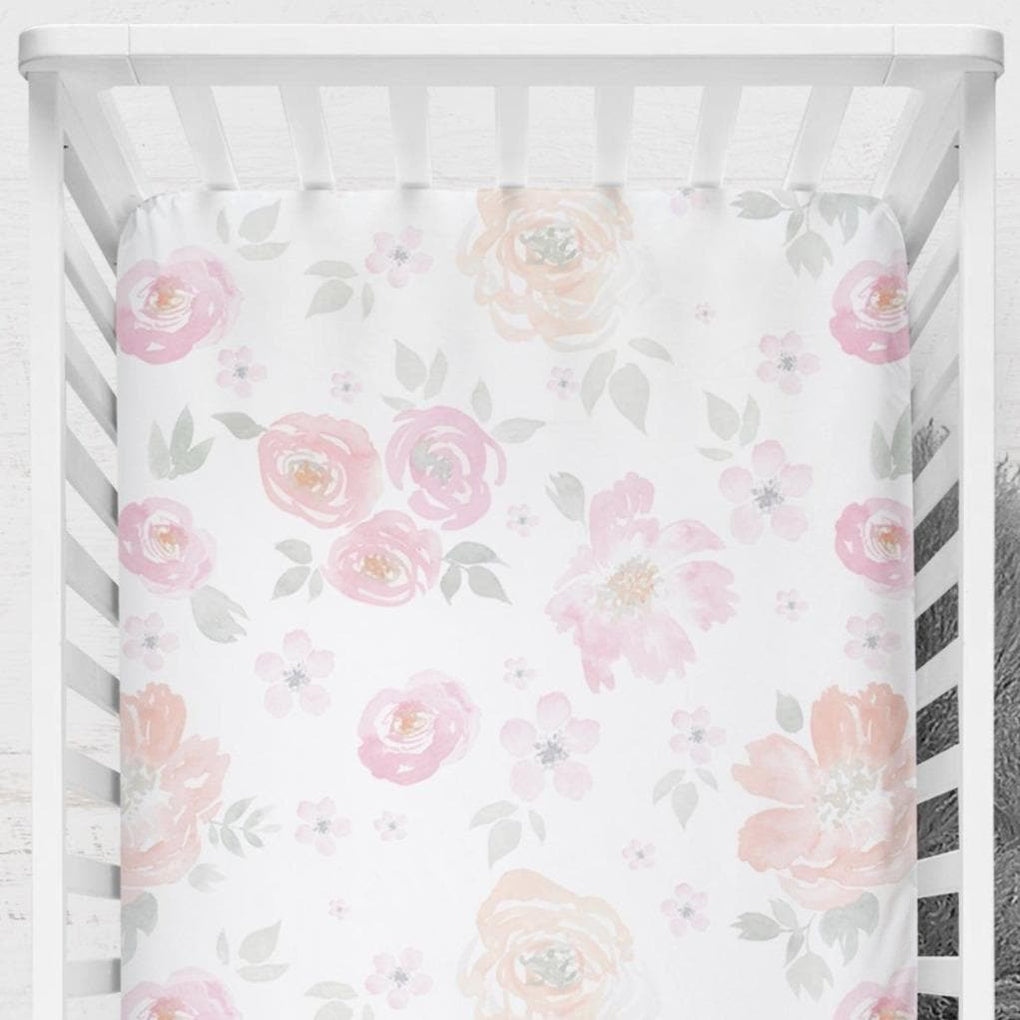 French Floral Crib Sheet Crib Sheet Modified Tot