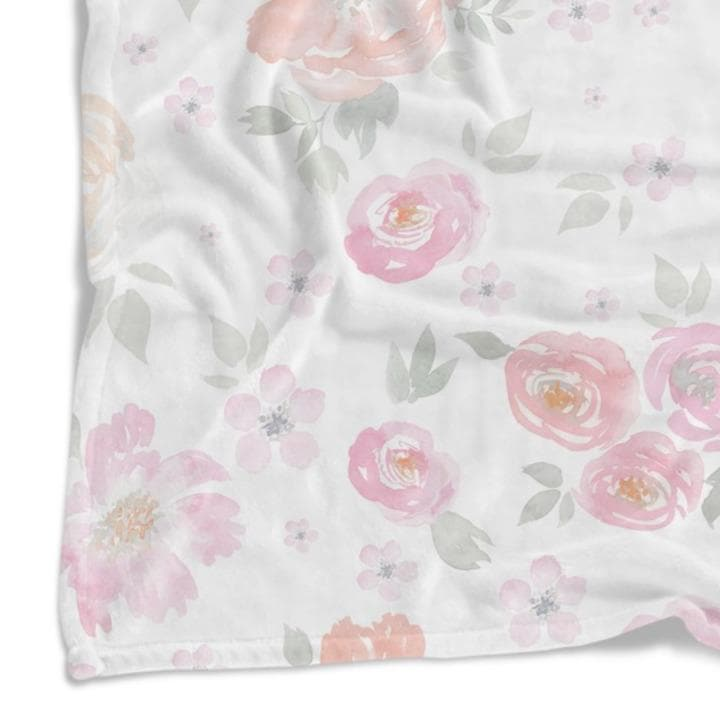 French Floral Minky Blanket Minky Blanket Modified Tot