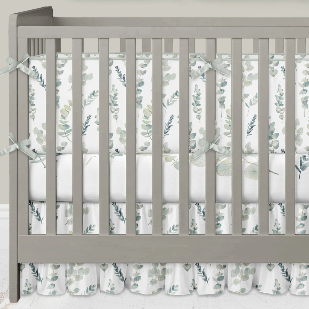 Going Green Crib Bedding (3 Pcs: Bumpers, Sheet, Gathered Skirt) Crib Bedding Modified Tot
