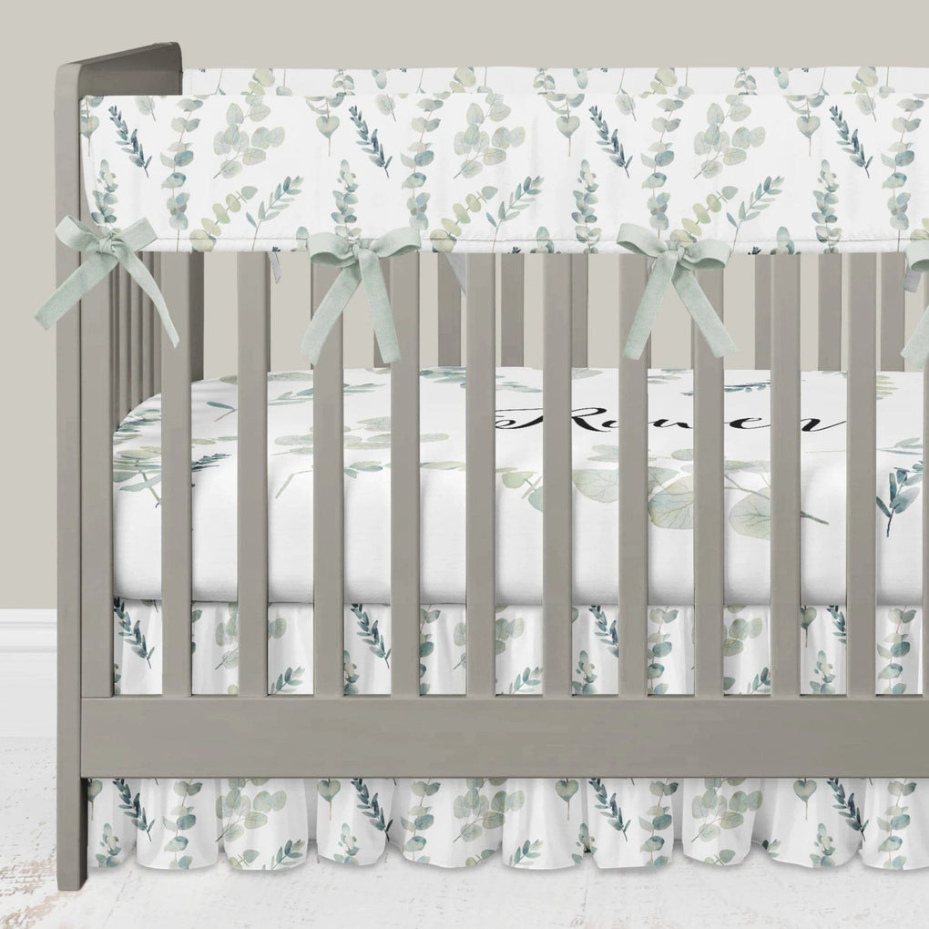 Going Green Crib Bedding (3 Pcs: Rail Guards, Sheet, Gathered Skirt) Crib Bedding Modified Tot