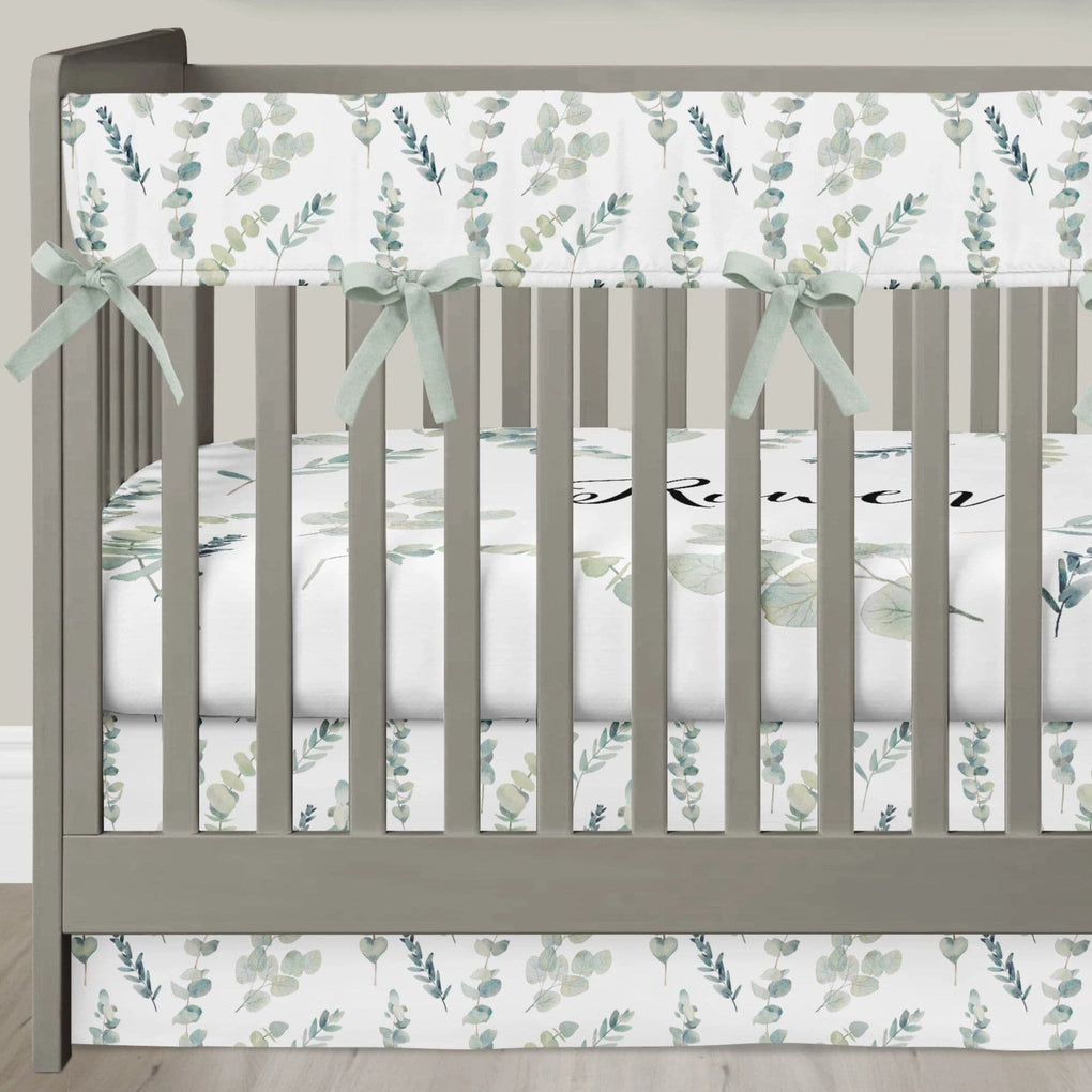 Going Green Crib Bedding (3 Pcs: Rail Guards, Sheet, Skirt) Crib Bedding Modified Tot
