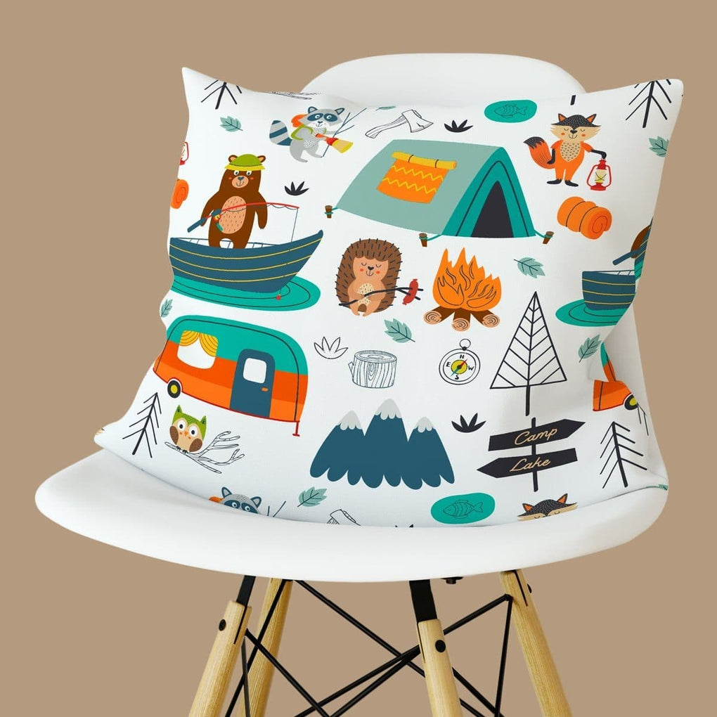 Happy Camper Pillow Throw Pillow Modified Tot