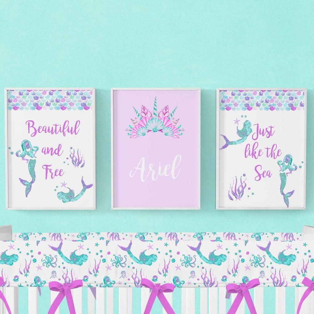 Jewel Mermaid Art Print Trio (Download) download Modified Tot
