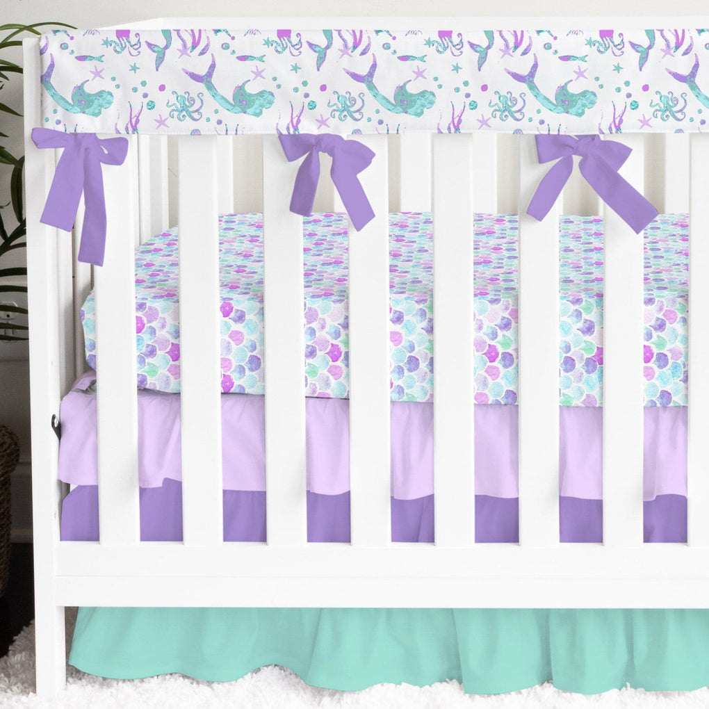 Jewel Mermaid Ruffled Crib Bedding Crib Bedding Modified Tot
