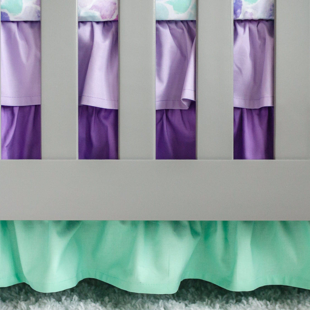 Jewel Mermaid Ruffled Crib Skirt Crib Bedding Modified Tot