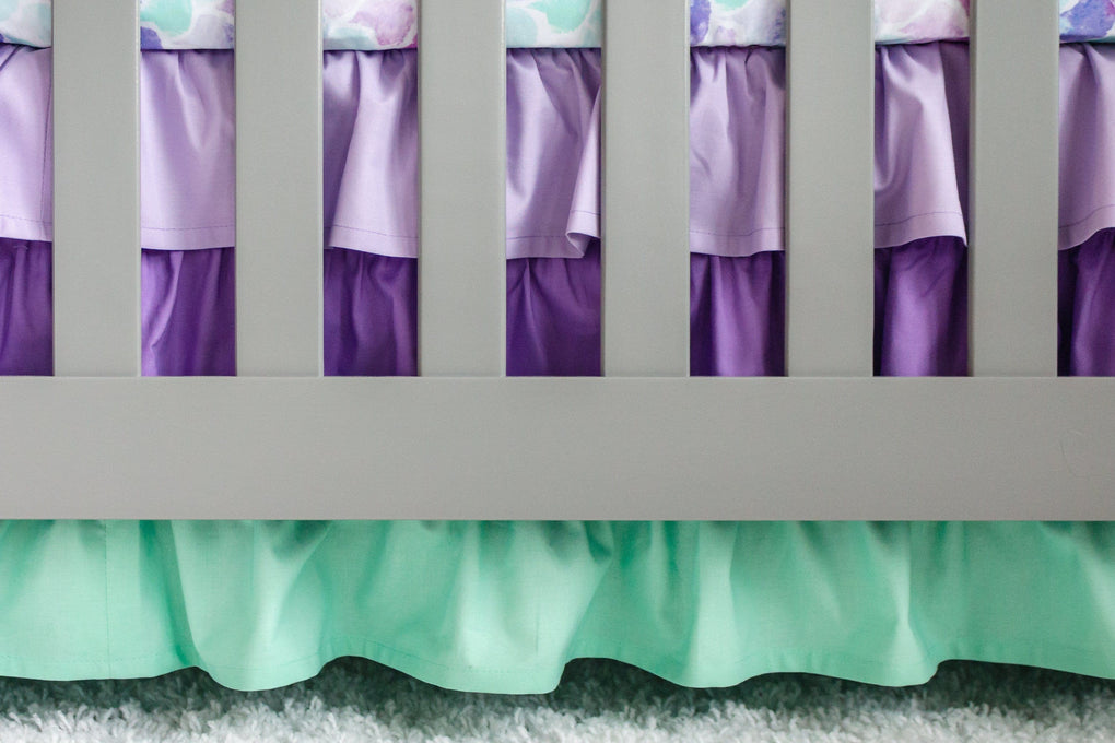 Jewel Mermaid Scales Ruffled Crib Bedding Crib Bedding Modified Tot