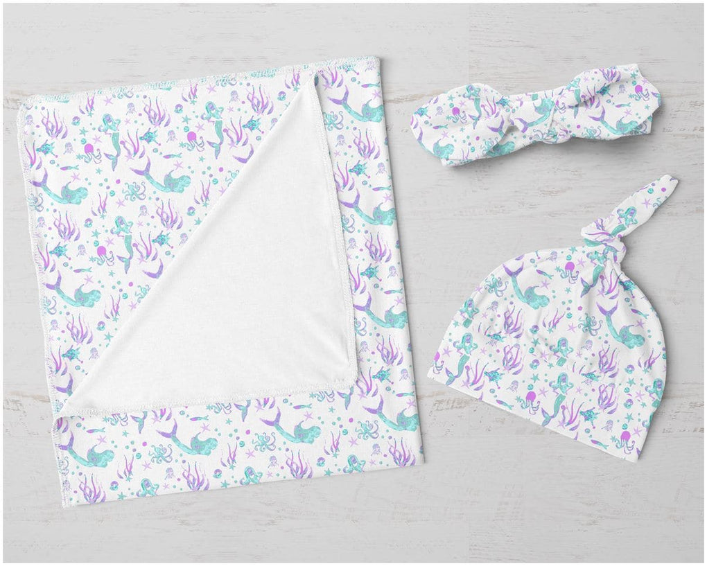 Jewel Mermaid Swaddle Blanket Set Swaddle Blanket Modified Tot