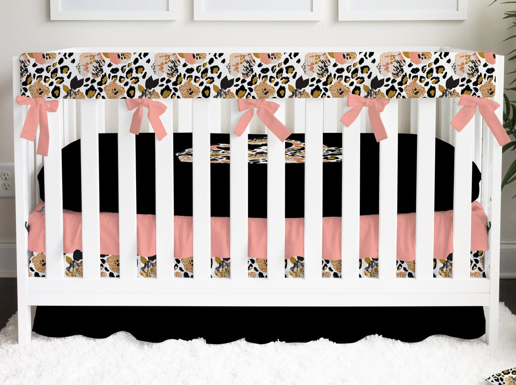 Leopard Love Crown Crib Bedding Crib Bedding Modified Tot