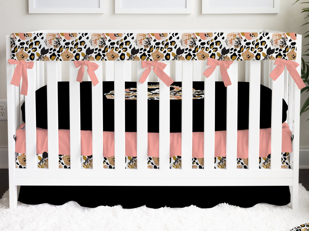Leopard Love Ruffled Crib Skirt Crib Skirt Modified Tot