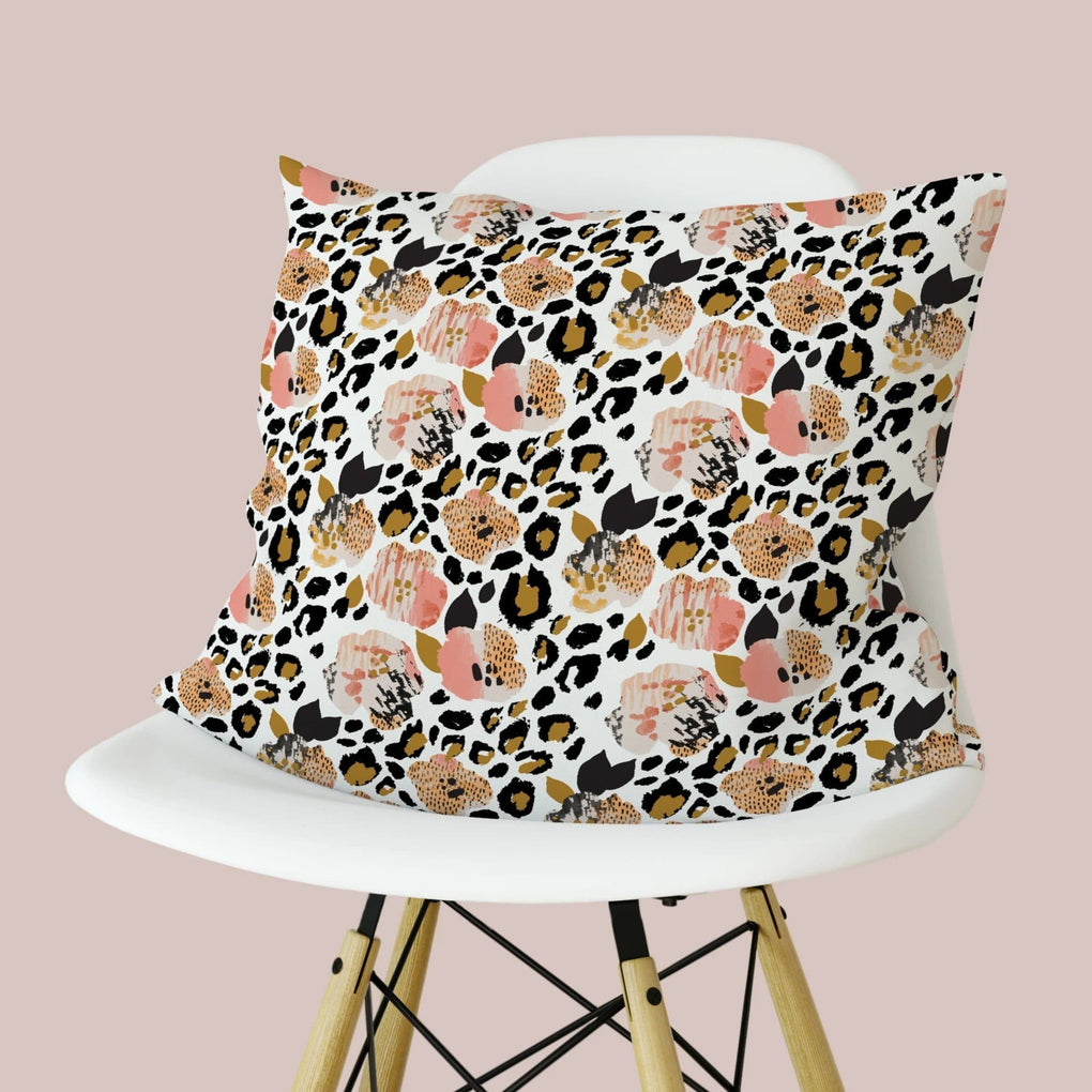 Leopard Love Throw Pillow Throw Pillow Modified Tot