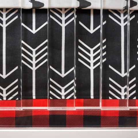 Lil Lumberjack Arrow Crib Skirt with Trim Crib Skirt Modified Tot