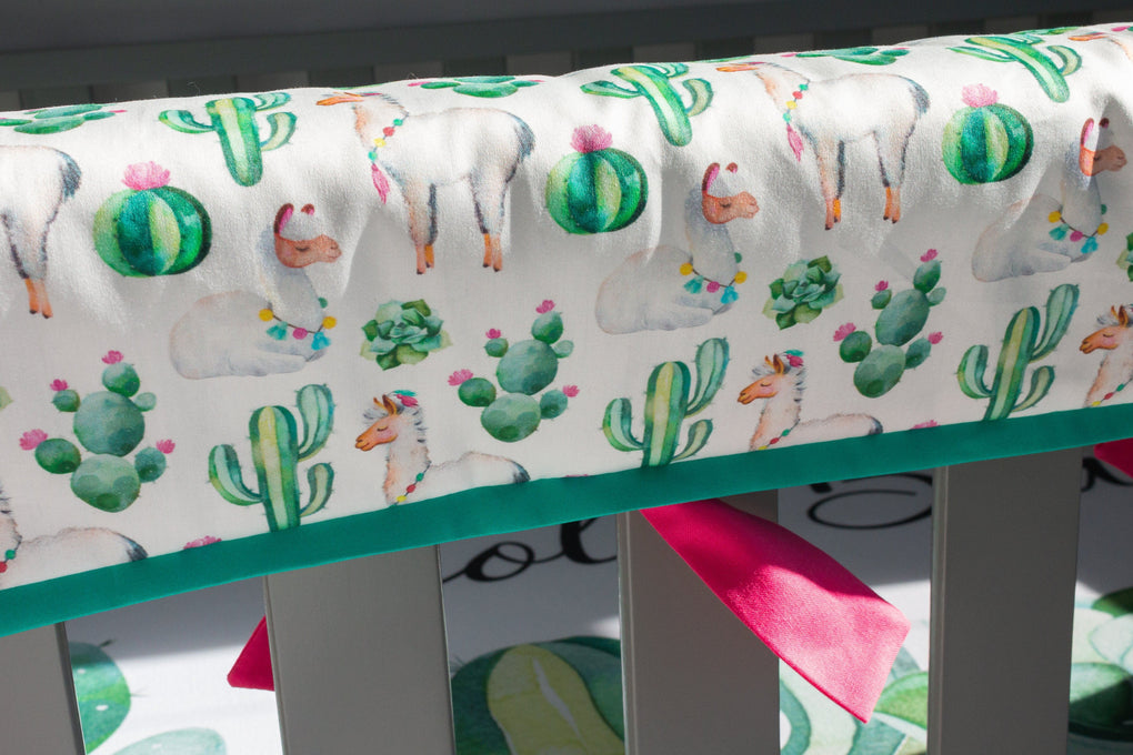 Llama Love Crib Bedding (3 Pcs: Rail Guards, Sheet, Skirt) Crib Bedding Modified Tot