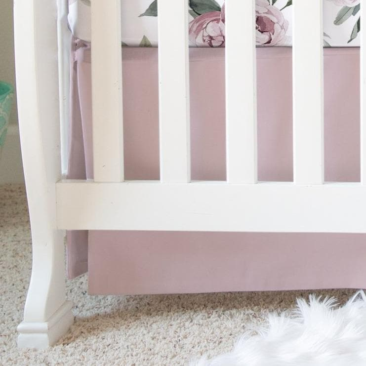 Mauve Crib Skirt Crib Skirt Modified Tot