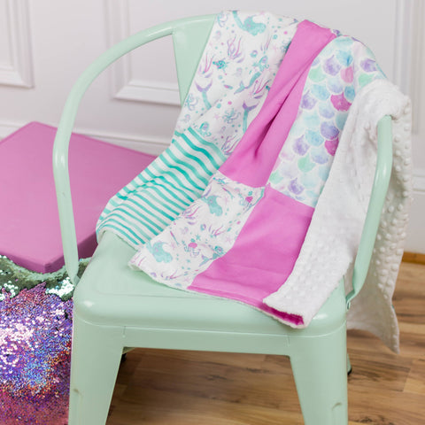 Mermaid Baby Blanket Blankets Modified Tot