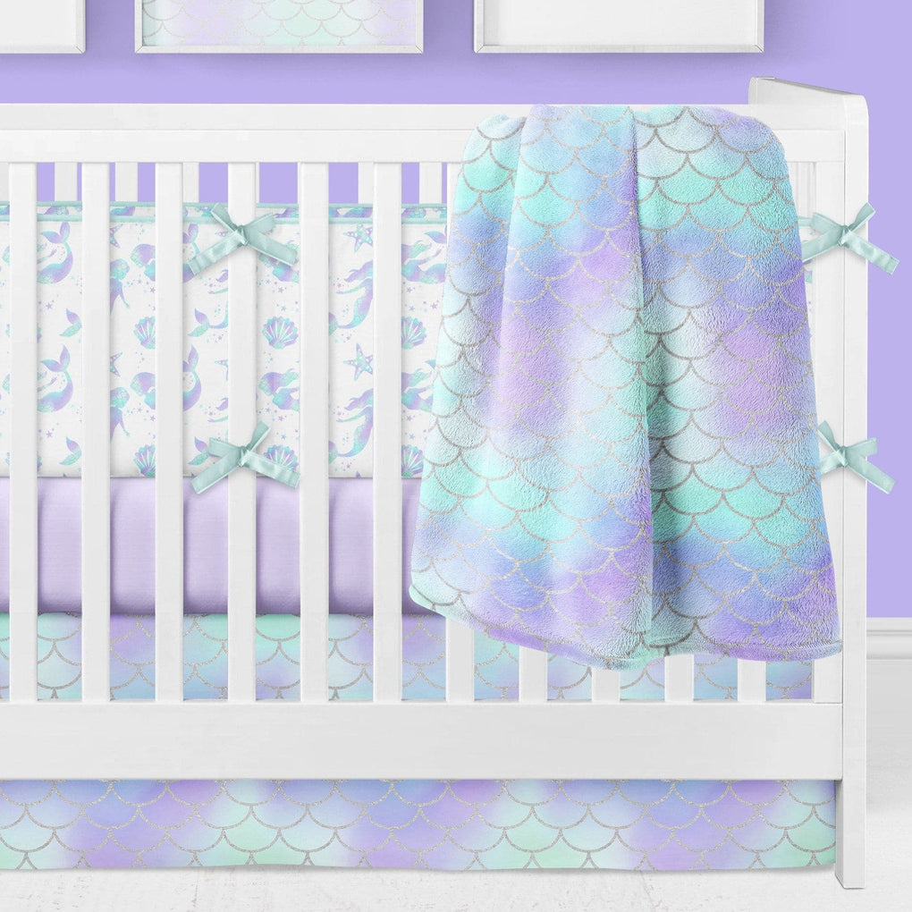 Mermaid Love Bumper Crib Bedding Crib Bedding Modified Tot