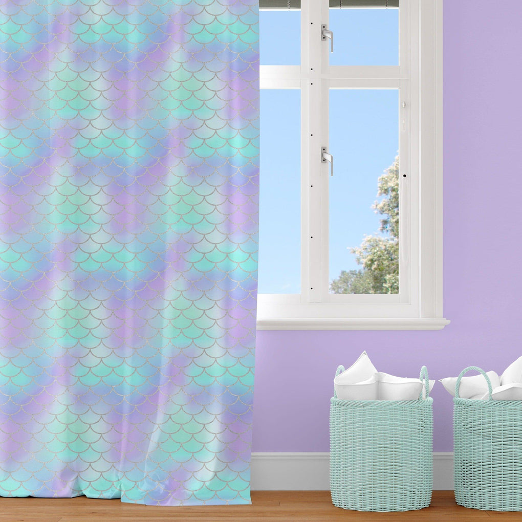 Mermaid Love Curtain Panel Curtain Panels Modified Tot
