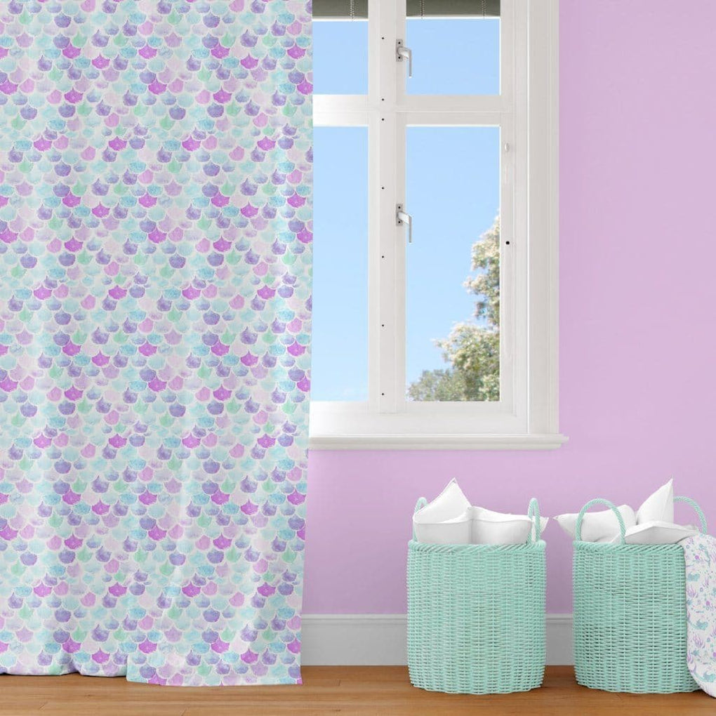 Mermaid Scales Curtain Panel Curtain Panels Modified Tot