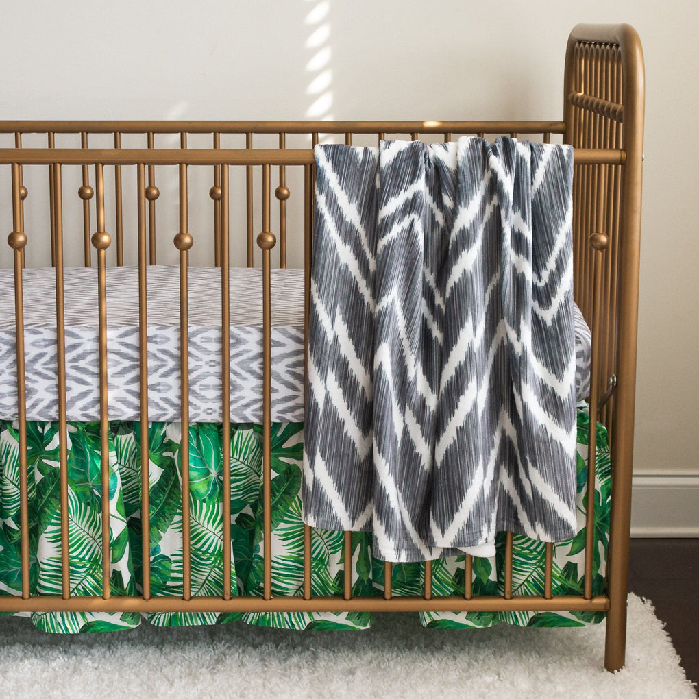 Modern Jungle Chevron Cuddle Blanket Minky Blanket Modified Tot