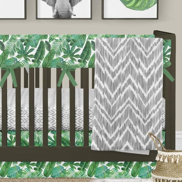 Modern Jungle Rail Guard Crib Bedding Crib Bedding Modified Tot