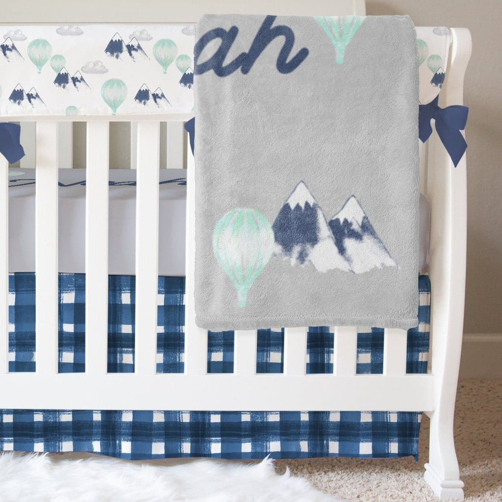 Mountain Explorer Bumperless Crib Bedding Crib Bedding Modified Tot