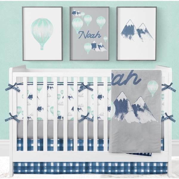 Mountain Explorer Personalized Minky Blanket Crib Bedding Modified Tot
