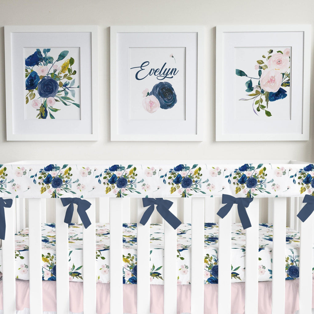 Navy & Blush Floral Wall Art Trio (Download) download Modified Tot