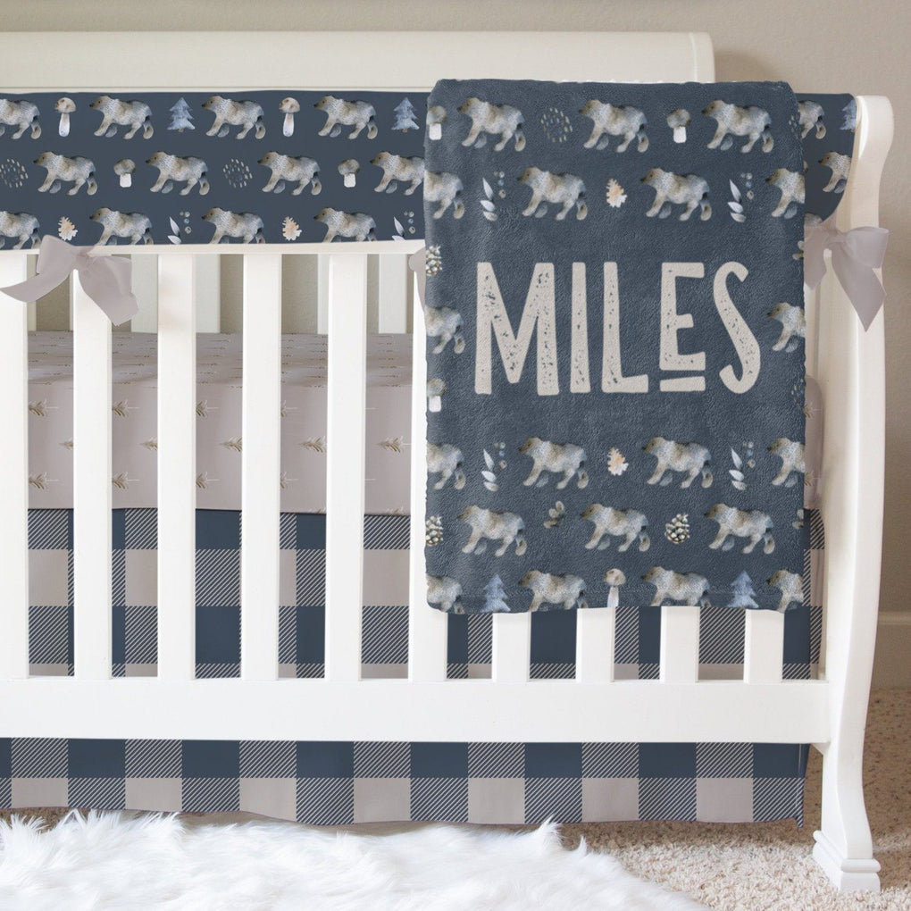 Night Forest Bumperless Crib Bedding Crib Bedding Modified Tot