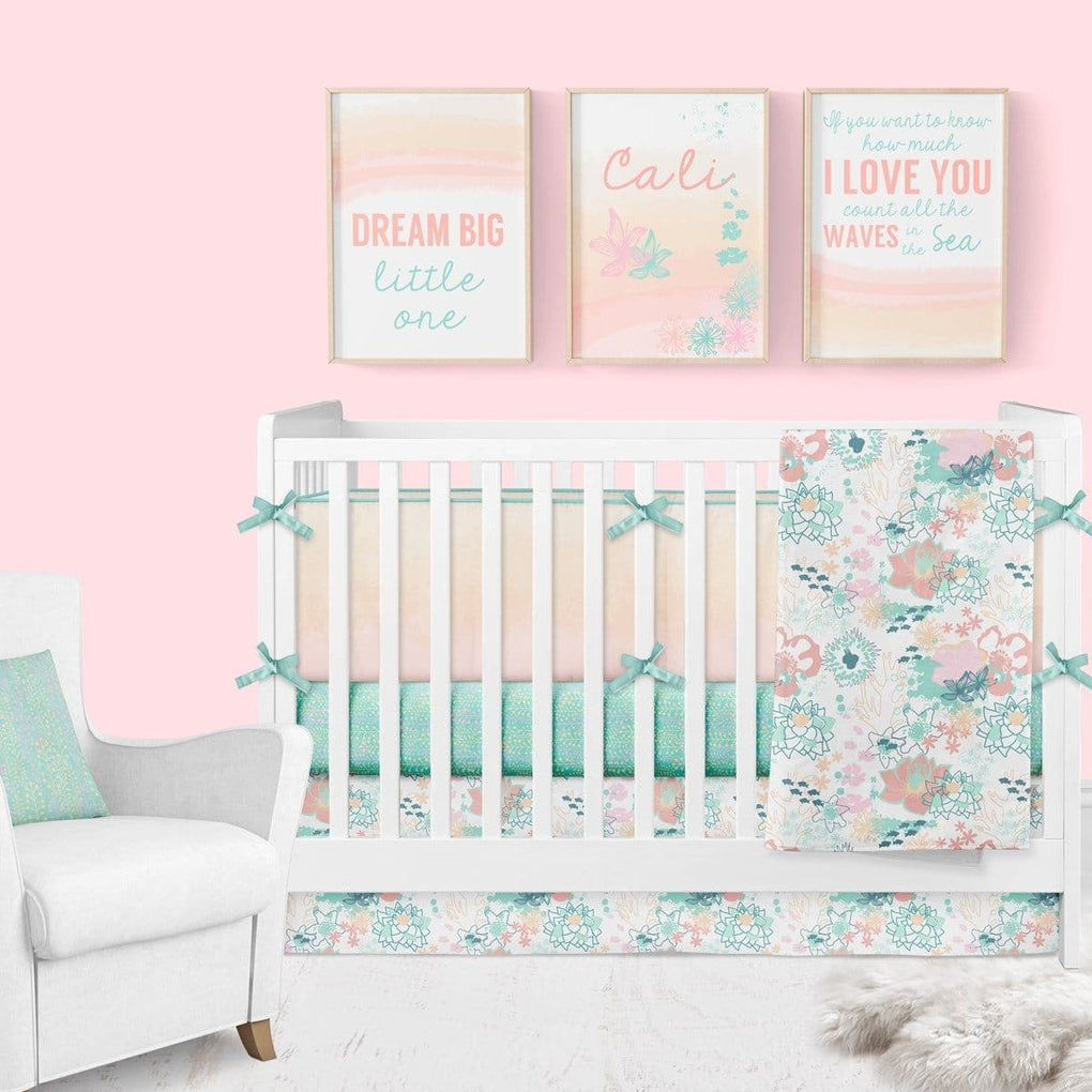 Ocean Vines Crib Sheet Crib Sheet Modified Tot
