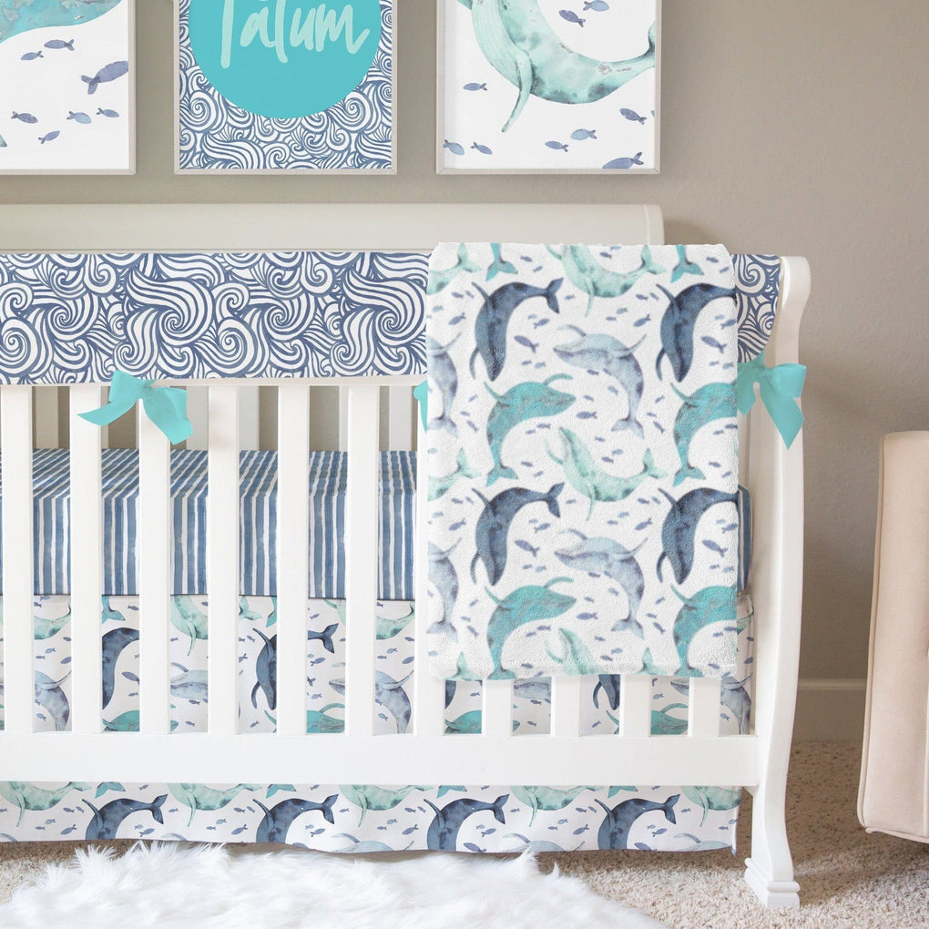 Oh Whale! Crib Bedding Crib Bedding Modified Tot