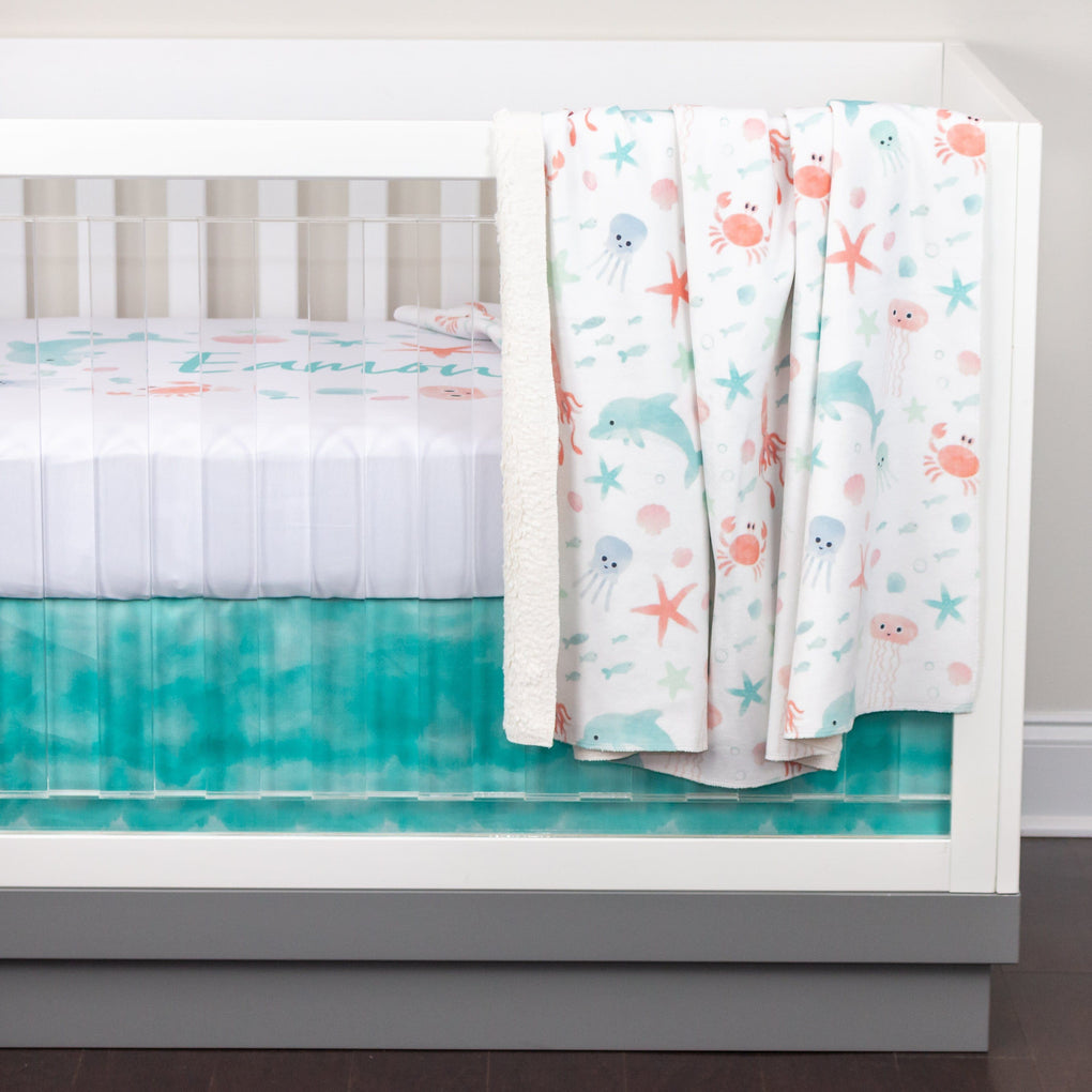 Ombre Waves Crib Skirt Crib Skirt Modified Tot