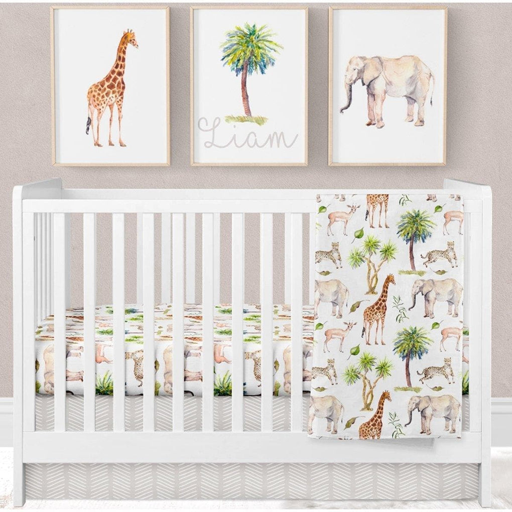 On Safari Crib Sheet Crib Sheet Modified Tot