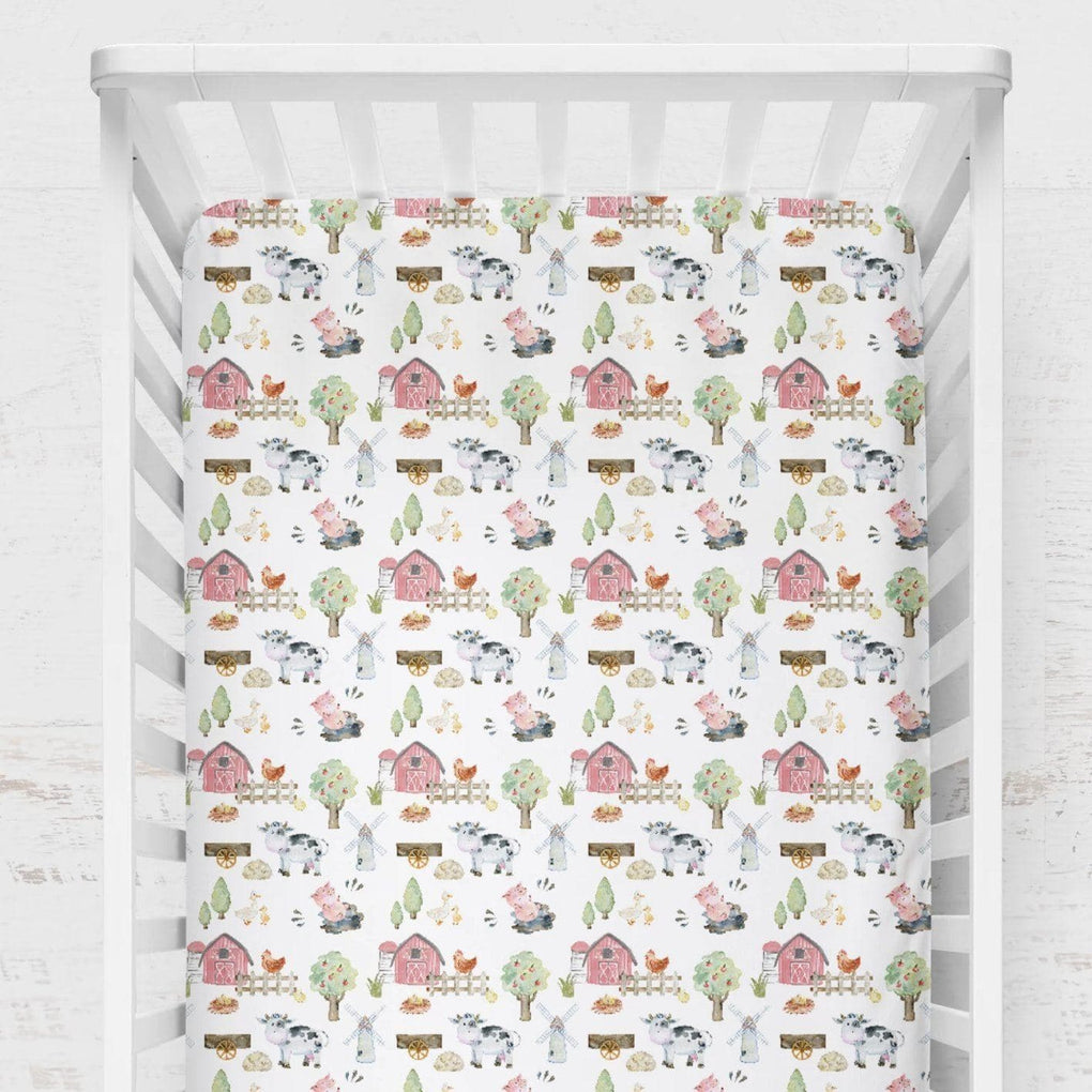 On the Farm Crib Sheet Crib Sheet Modified Tot