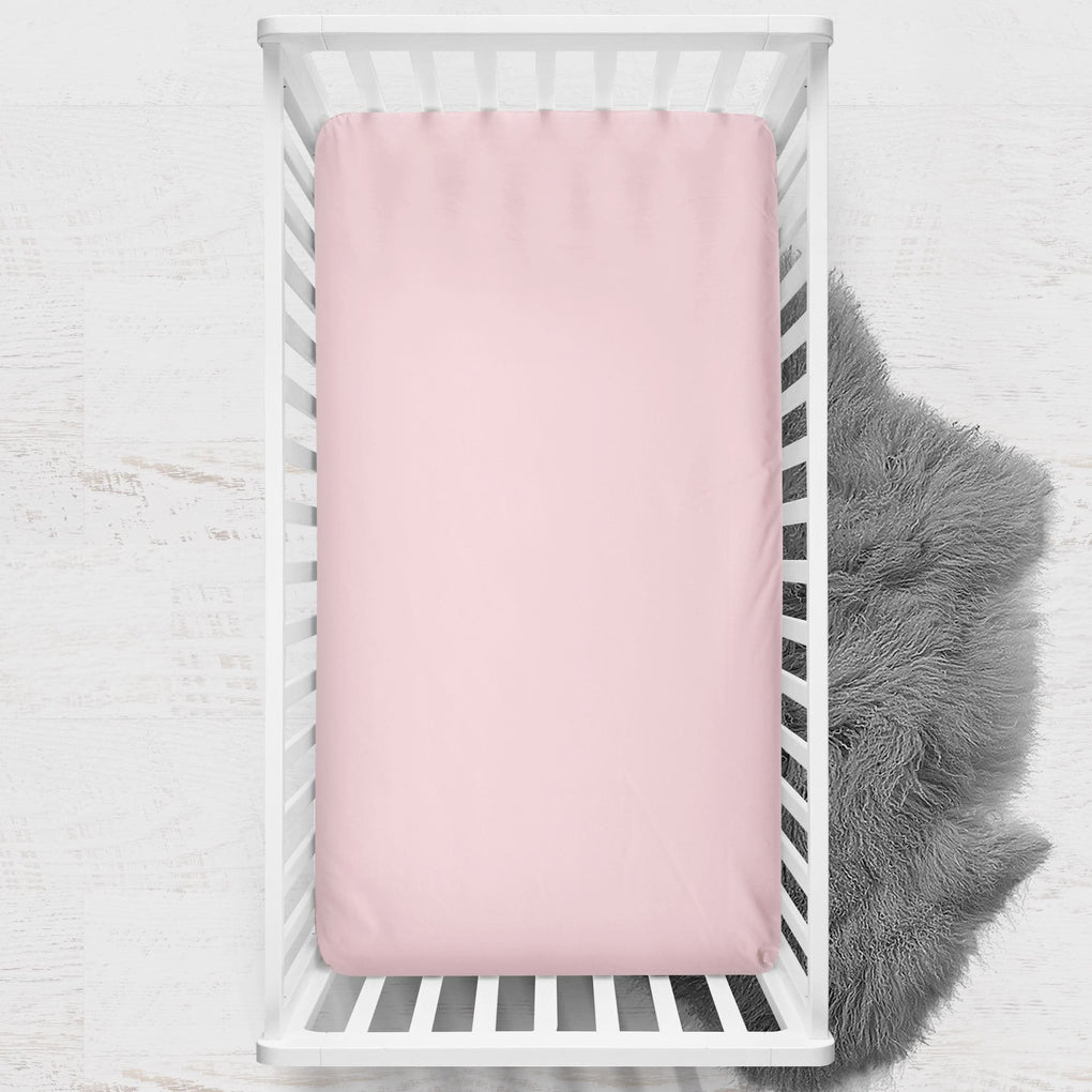 Peachy Pink Crib Sheet Crib Sheet Modified Tot