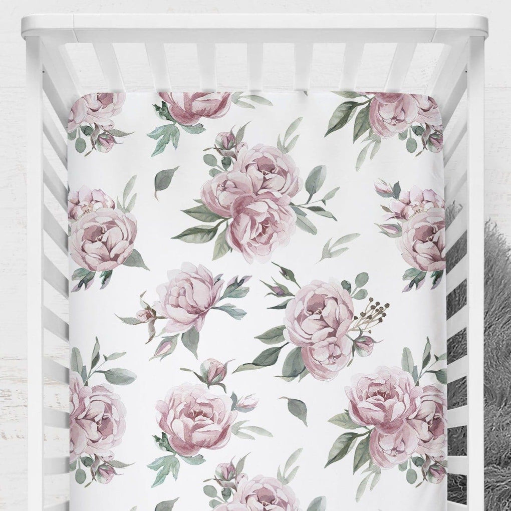 Peony Crib Sheet Crib Sheet Modified Tot