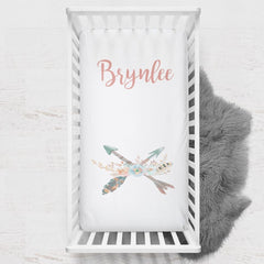 Personalized Boho Arrow Crib Sheet Changing Pad Covers Modified Tot