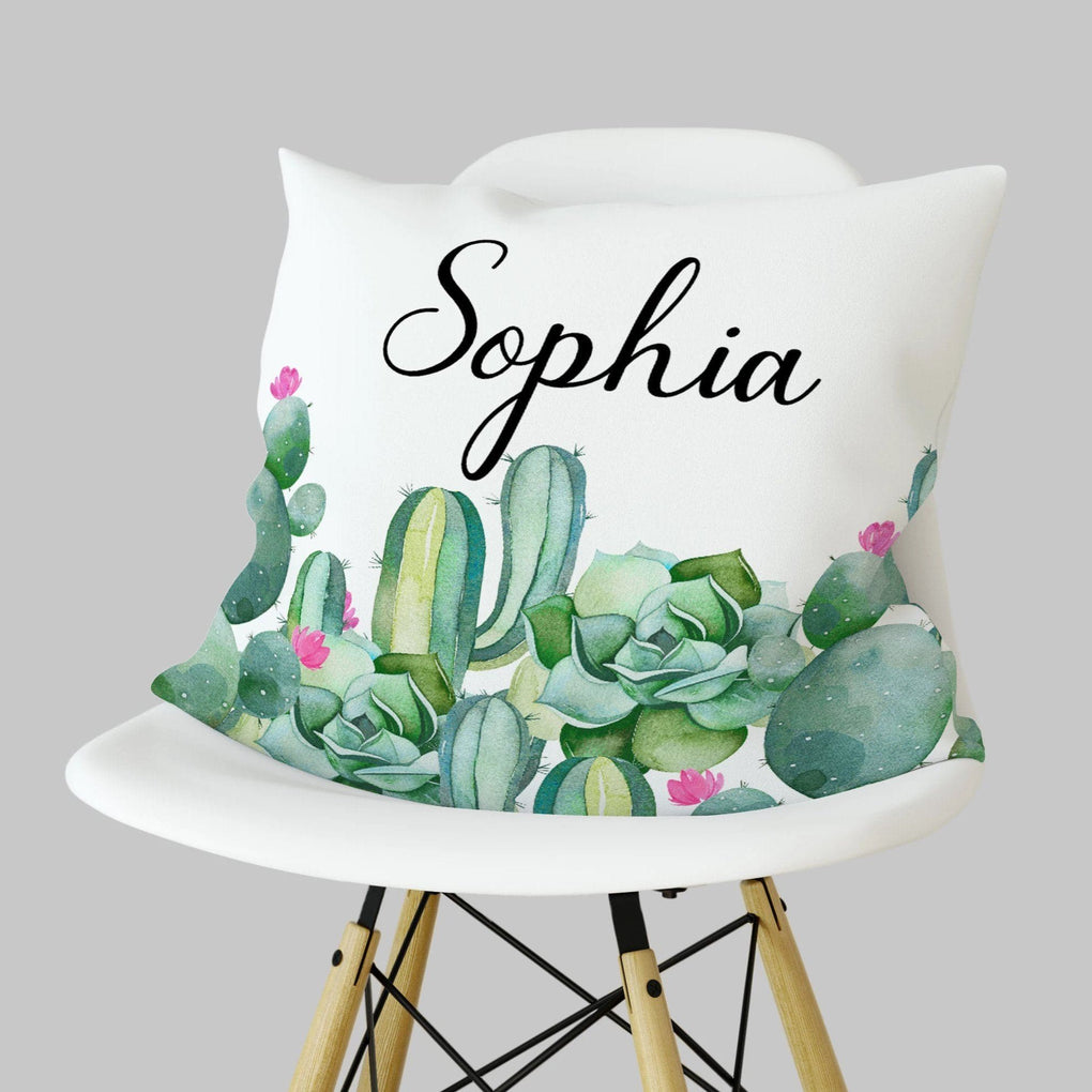 Personalized Cactus Pillow Throw Pillow Modified Tot