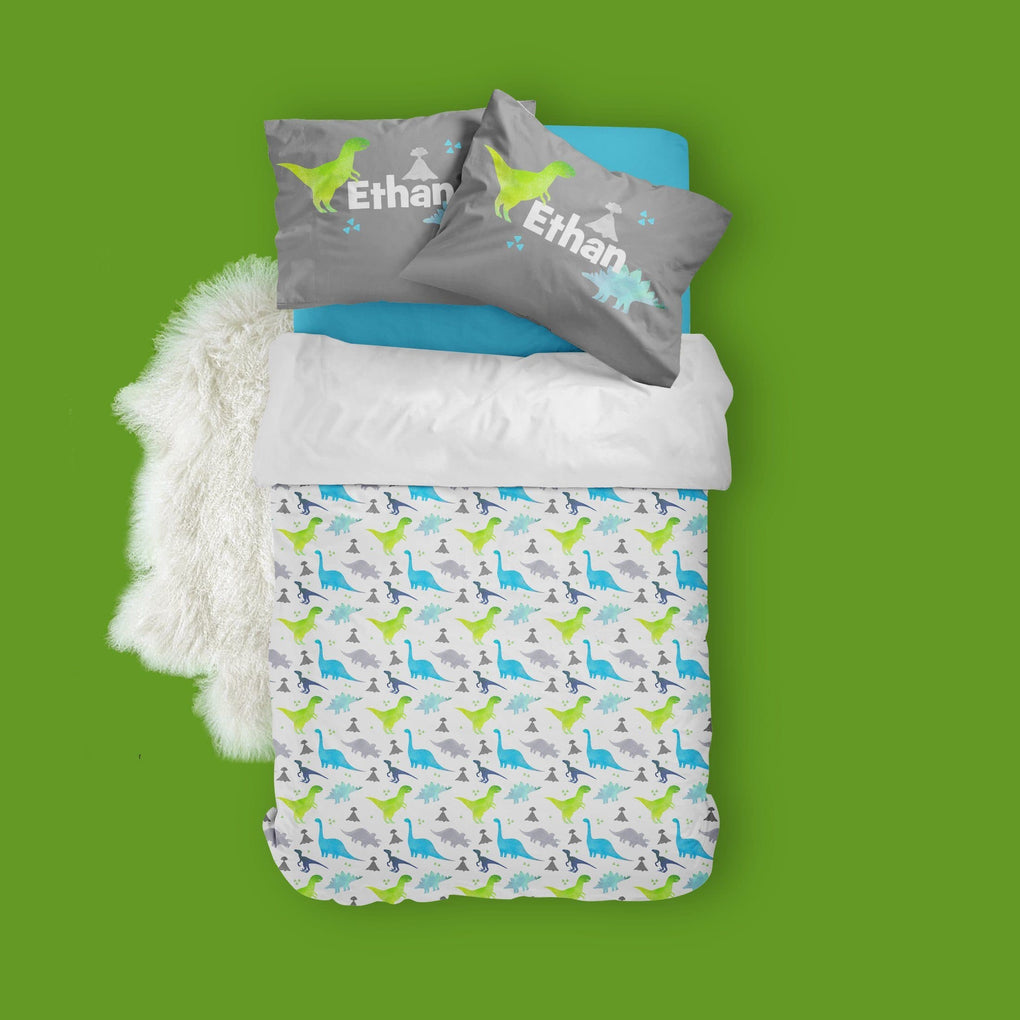 Personalized Dinosaur Big Kid Bedding Set Big Kid Bedding Modified Tot
