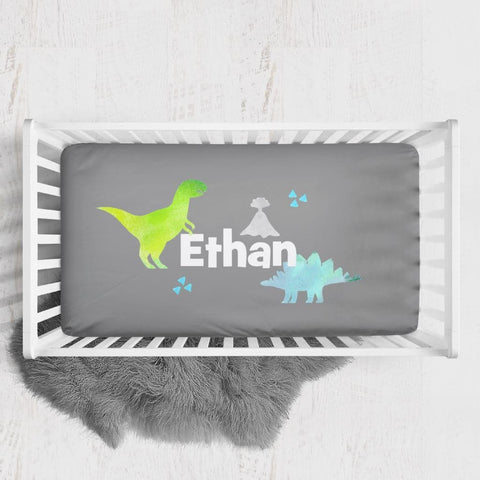 Personalized Dinosaur Crib Sheet Changing Pad Covers Modified Tot