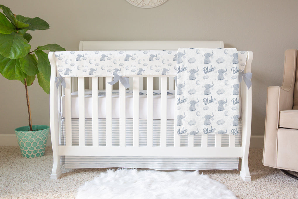Personalized Elephant Crib Sheet Crib Sheet Modified Tot