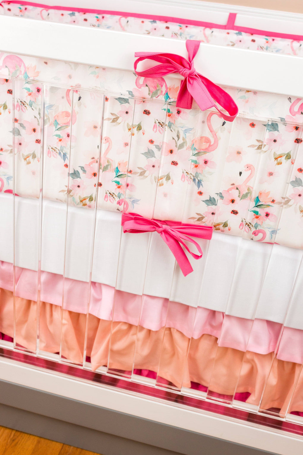 Personalized Floral Crib Sheet Crib Sheet Modified Tot