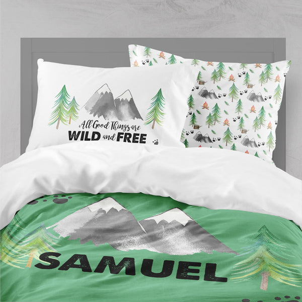 Personalized Forest Adventure Big Kid Bedding Set Big Kid Bedding Modified Tot