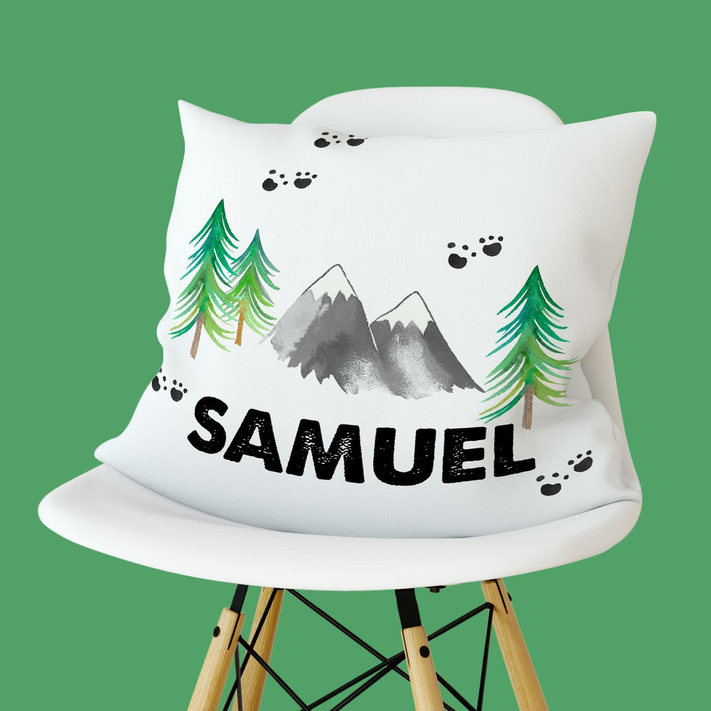Personalized Forest Adventure Pillow Throw Pillow Modified Tot
