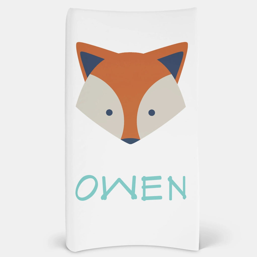 Personalized Fox Changing Pad Cover Changing Pad Cover Modified Tot