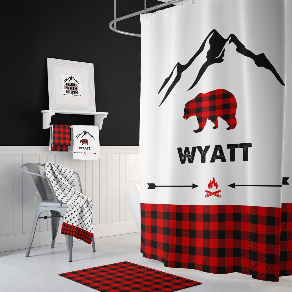 Personalized Lil' Lumberjack Bathroom Collection Bathroom Collection Modified Tot